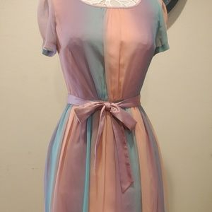 ModCloth Sherbet Chiffon Dress